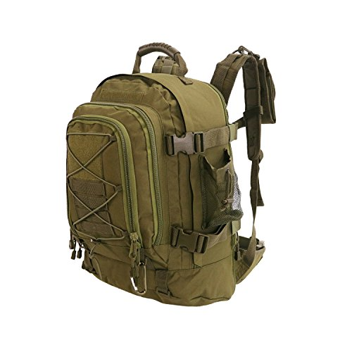 40L Outdoor Expandable Tactical Backpack Military Sport Camping Hiking Trekking Bag (OD Green 08001A)