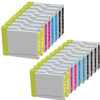 18 Pack. Compatible Cartridges For Brother LC-51. Includes Cartridges for 6 ea LC-51 Black + 4ea LC-51 Cyan + 4ea LC-51 Magenta + 4ea LC-51 Yellow. ()
