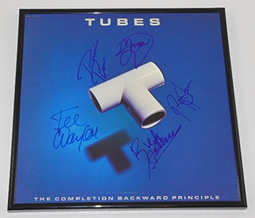The Tubes The Completion Backward Principle Group Signed Autographed Lp Record Album with Vinyl Framed Loa (Young Beauty Tube)