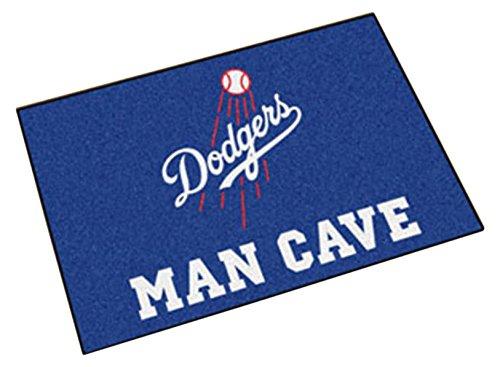 Mlb Rug - Fanmats 22423 Mlb-Los Angeles Dodgers Man Cave Starter Rug
