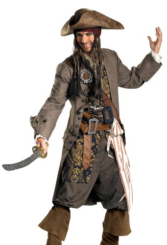 Disguise Men's Disney Pirates Theatrical Costume