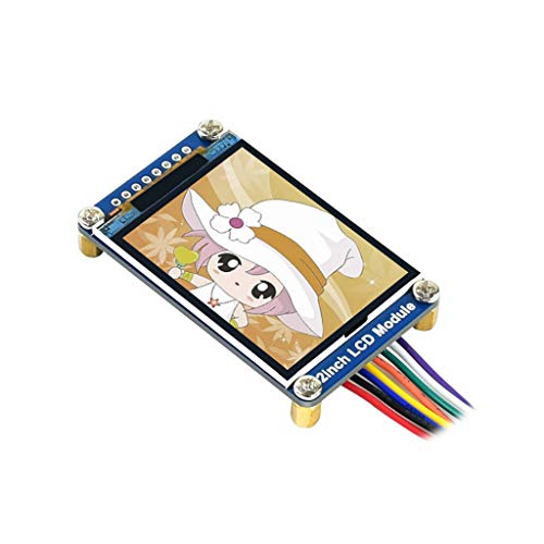 Waveshare 2inch LCD Display Module IPS Screen 240×320 Resolution Onboard Driver ST7789 SPI Interface RGB, 262K Color with Examples for Raspberry Pi/Jetson Nano/Arduino/STM32