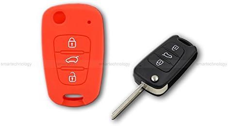 Caparazón carcasa (silicona) para protección concha mando llave 3 3 botones coche hyundai i10 i20 i30, ix20 ix35 Elantra Varios colores rojo