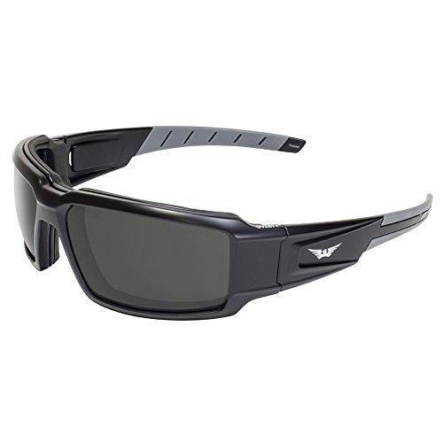 (Global Vision Eyewear Velocity SM Velocity Safety Motorcycle Sunglasses, Smoke Lens, Frame, Black)