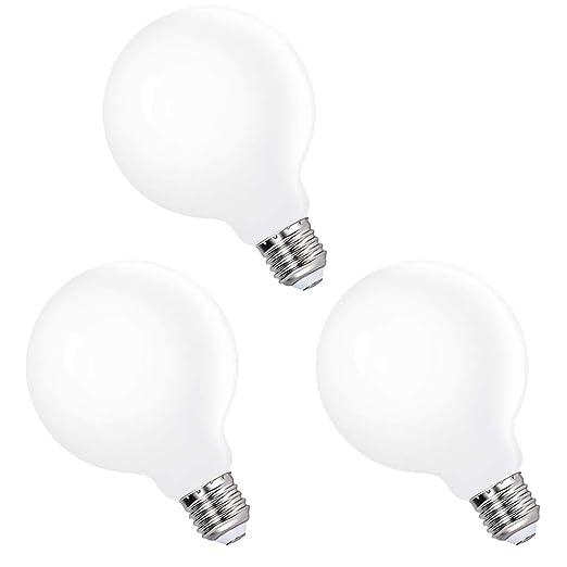 Lamparas Bombillas Globos Grande de LED de Edison E27 Bajo Consumo G95 6W Luz Fria 5000K Iluminación Omnidireccional para Lampara Colgante de Techo, ...