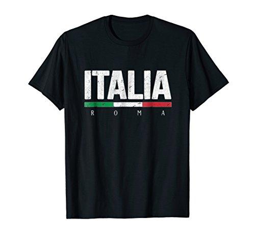 Rome Italy T-shirt Italian Flag Italia Tourist Roma ()
