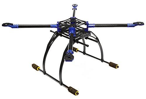 Integy RC Model Hop-ups C25864BLUE Custom Machined Alloy+Carbon Fiber Quadcopter Upgrade Frame 550 Size Foldable by Integy