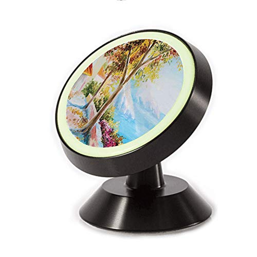 ell Phone Car Mount Holder,Mountain Terrace Trees and Flower Bed in Autumn,can be Adjusted 360 Degrees to Rotate,Phone Holder Compatible All Smartphones ()