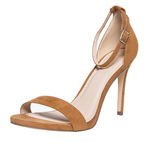 - Classic Stiletto Dress Sandal Women's Single Band Ankel Strap High Heel Sandals BR8