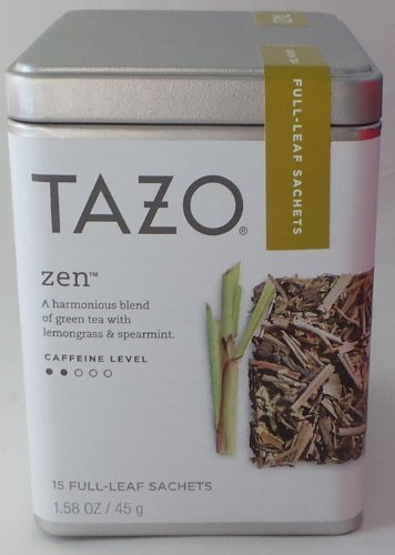 Tazo Zen Green Tea - 15 Full Leaf Sachets (Tazo Zen Full Leaf Tea compare prices)