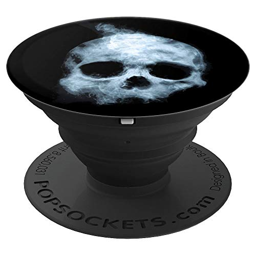 Black Background Scary Halloween skull - PopSockets Grip and Stand for Phones and -