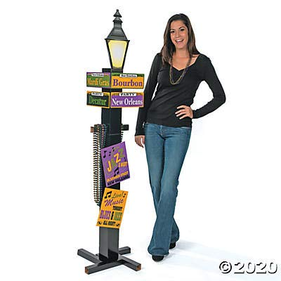Large Cardboard Mardi Gras Party Bourbon Street Directional Sign Decor (over 4 feet tall): Toys & Games
