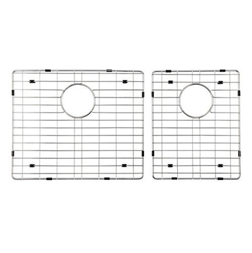 Starstar 60/40 Double Bowl Kitchen Sink Bottom Two Grids, Stainless Steel, 16.75'' x 17'',11'' x 17'' by Starstar
