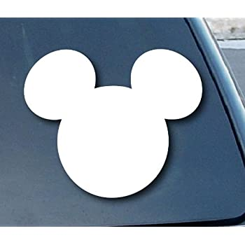 Mickey Mouse Ears Disney Car Window Vinyl Decal Sticker 4  Wide  Color   White. Amazon com  Mickey Mouse Disney Peeking Looking Car Window Decal