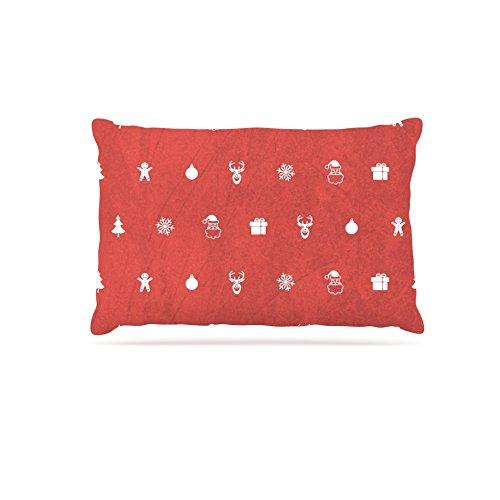 KESS InHouse Snap Studio Cheery Pattern Red Maroon Dog Bed, 30  x 40