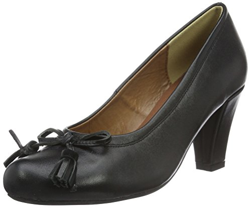 Noir Schwarz Femme 002 Bout 3000513 Escarpins Fermé Hirschkogel 002 YqvXBX