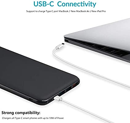 Charmast Power Delivery Power Bank, 26800mAh PD Power Bank, 18W USB-C Portable Charger Quick Charge 3.0 Battery Pack Compatible with MacBook/New ...