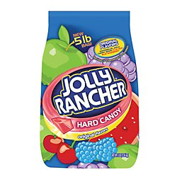 JOLLY RANCHER Hard Candy, Assortment (Watermelon, Apple, Cherry, Grape, Blue Raspberry), 5 Pound Bag (360 Pieces) (Halloween Candy)