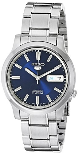 - Seiko 5 Men's SNK793 Automatic Stainless Steel Watch with Blue Dial