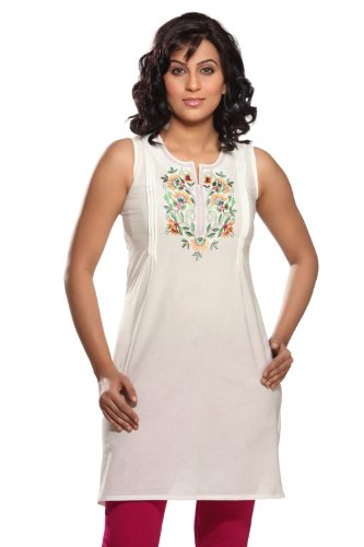Women's Indian Mix N Match Kurta X- Large Off White by In-Sattva Colors