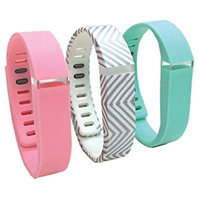 Smart BuddieTM 3 Pack Fashion Activity Large Tracker Bands - Pink/Gray/Teal (1800-1002L)