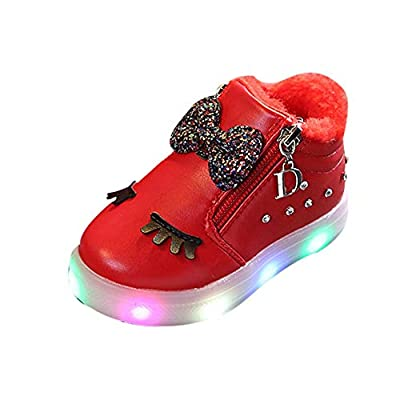 Lurryly❤Kids Casual Shoes for Girls Light-up Sneaker Lights Boots Shoes(Toddler/Little Kid)