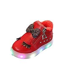 CQO❤Kids Shoes Girls Light-up Sneaker Lights Boots Shoes(Toddler/Little Kid)