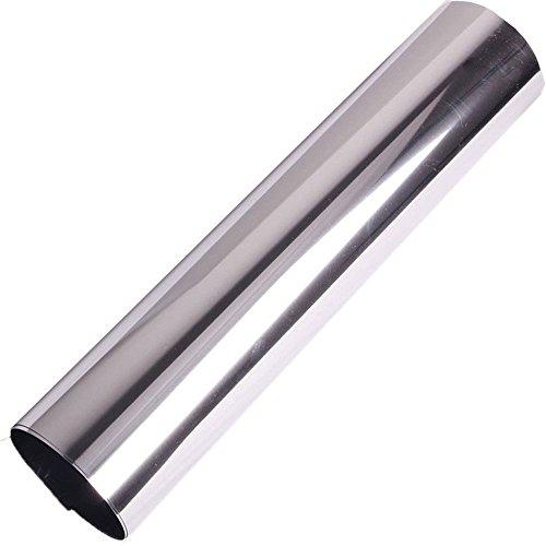 Hoho Solar reflectante Espejo Ventana Plata Tint película One Way Privacidad vidrio calcomanía Opaque White Negro Película...