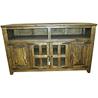 Dark Rustic Western 60 Inch Tv Stand For Your Living Room