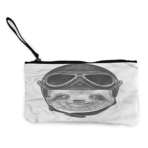 Cash Bag 1950s Sloth,Biker Hipster Animal W8.5