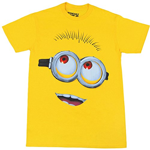 Animation Shops Minion Face Adult T-Shirt-X-Large Yellow]()