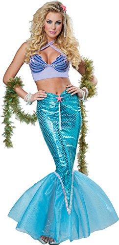 Mermaid Deluxe Adult Costumes (California Costumes Women's Deluxe Mermaid, Multi, Medium)