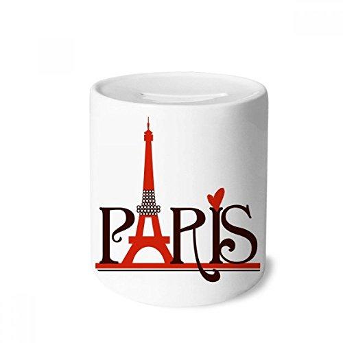 (DIYthinker Eiffel Tower Paris France Country City Culture Money Box Saving Banks Ceramic Coin Case Kids Adults)