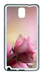 carry cases pink rose petals TPU White case/cover for samsung galaxy note 3 N9000