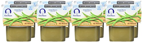 Gerber 2nd Foods Green Beans, 4 oz Tubs, 2 Count (Pack of 8) by Gerber Purees (Image #1)