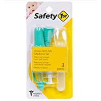 SAFETY 1ST 3 Piece Infant Medicine Set, Clear