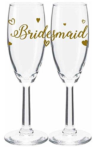 Amazon Bridesmaid Champagne Glass Wedding Favor Bridemaids