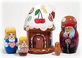 Hansel and Gretel 5 Piece Russian Wood Nesting Doll Matryoshka Stacking Dolls