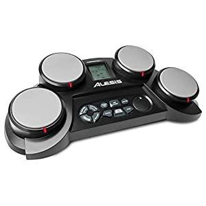 Alesis CompactKit 4 – Tabletop Electric Drum Set with 70 Electronic / Acoustic Drum Kit Sounds, 4 Pads, Battery or AC…