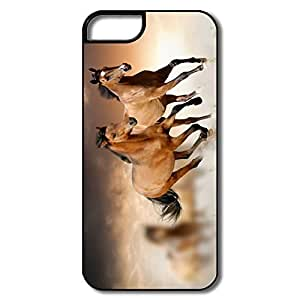 Custom Geek Bumper Case Horses Running IPhone 5/5s Case For Her