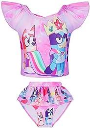DSL Girls Two Piece Swimsuit Bathing Suit for Toddler Girl Tankini Set Swimwear Summer Beach Sport