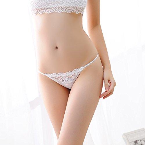 HHY-G-string de encaje sin fisuras señoras cintura transparente,F,rojo profundo White