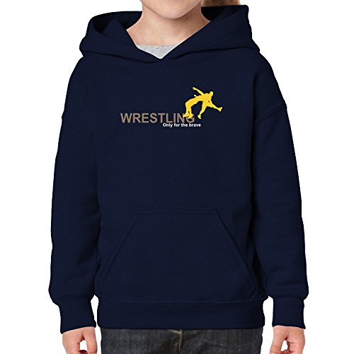 Teeburon Wrestling Only For The Brave Girl Hoodie by Teeburon