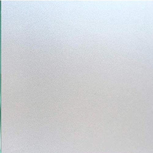 Window Film Non Adhesive Frosted Home Office Film Privacy Window Sticker Self Static Cling Vinly Glass Film for Bathroom Office Meeting Room Living Room (Matte White 17.7by78.7 Inch)