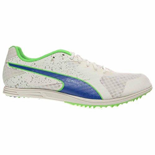 PUMA Herren TFX Abstand V5 Track Spike Schuh Weiß / Starkes Blau / Leuchtstoff Grün Co