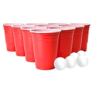 Beer Pong Juego Para Fiestas Con 22 Vasos Y 15 Pelotas Beber