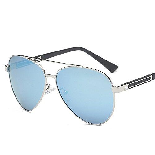 la de de Retro Plata Gafas Azul modelos gafas de hombres nuevos Europa sol polarizadas explosión América sol y de Caja gafas Visor Hielo polarizadas 0SdTq6Sw