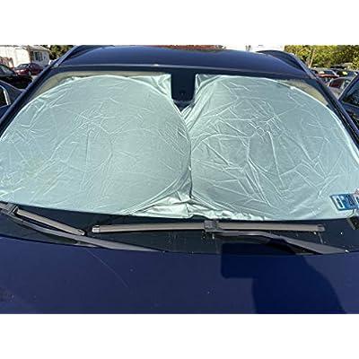 Bzon Car Windshield Sun Shade Front Window Shield Reflective Foldable Material Blocks Heat and UV Rays Sunshade: Automotive