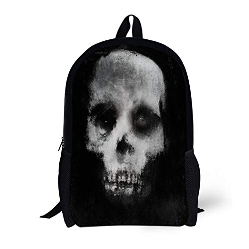 Pinbeam Backpack Travel Daypack Face Scary of Skull
