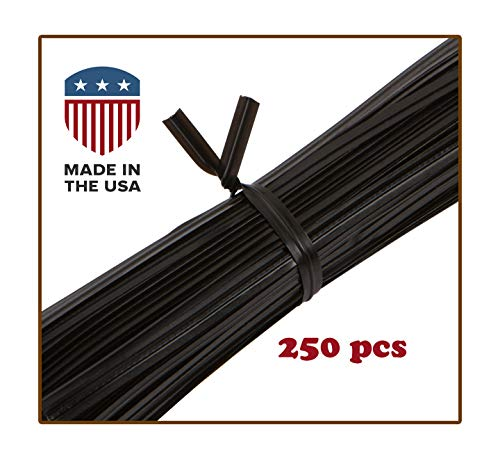 Twist Ties for Bags, Cables, Wires: 250 pcs: USA Made: Plastic/Metal, (4